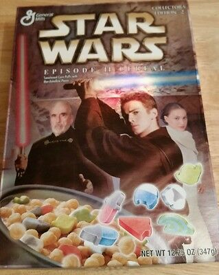 Star Wars Attack of the Clones General Mills Breakfast Cereal - Never Opened