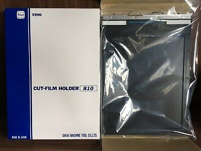 New TOYO FIELD 8 x 10 Sheet Film Holder No.1841 CH810 Cut Film Holder tracking