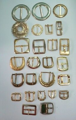 Fashion Buckles many assorted styles & sizes Gold @ $2.50 each you pick