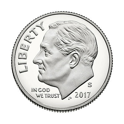 2017-S Roosevelt Dime Silver(90%) Proof - Deep Cameo Coin