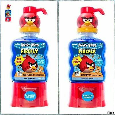 Firefly Angry Birds-Man 2 Anticavity Fluoride Rinse,16 fl oz 473 ML,ANTI-CLAVITY