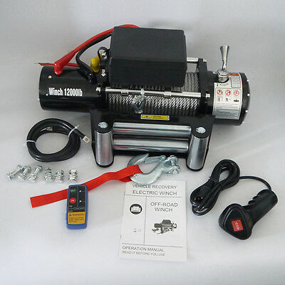 12,000 lbs 12v Electric Winch for Truck, Trailer, Jeep 12000lb Recovery Winch AL