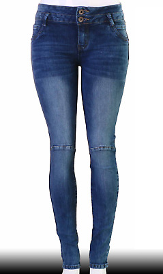 High Waist  Stretch Push-Up Colombian Style Skinny Jeans in DK.blue  CL12