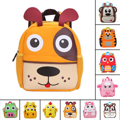 Baby Kids Boy Girl Animal casual Backpack Cartoon Small Shoulder School Bag gift