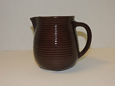 Vintage Western Stoneware Maple Leaf Milk Pitcher