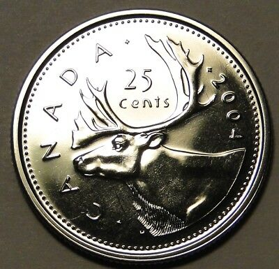 PL BU UNC Canada 2004 25c 25 cent quarter dollar coin from mint set proof-like