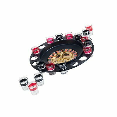 Drinking Roulette Wheel 16 Shot Glasses Party Game Casino Gambling Gaming