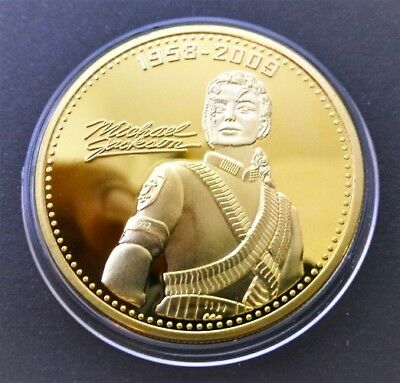 1 Pièce plaquée OR ( GOLD Plated Coin ) - Michael Jackson Ref 2