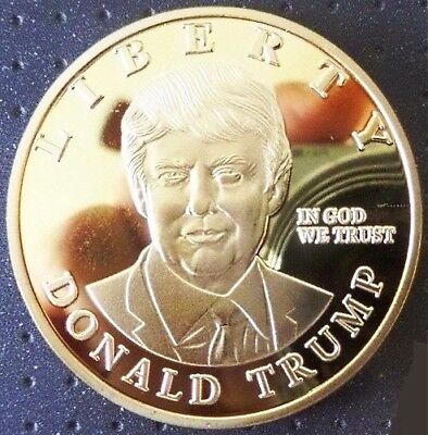 1 Pièce plaquée OR ( GOLD Plated Coin ) - Donald Trump