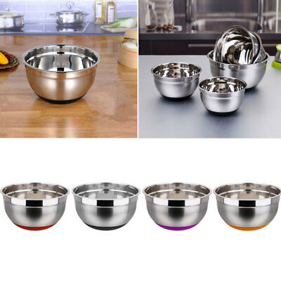 Stainless Steel Silicone Bottom Egg Beating Pan Prevent Splash Mixing Bowl Pot