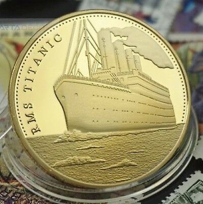 1 Pièce plaquée OR ( GOLD Plated Coin ) - R.M.S. Titanic