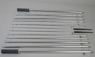 Lee's Tackle 18.5Ft Bright Silver Outrigger Poles (Ap3519)