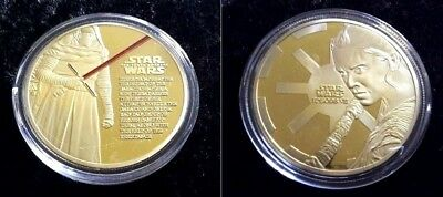 1 Pièce plaquée OR ( GOLD Plated Coin ) - Star Wars