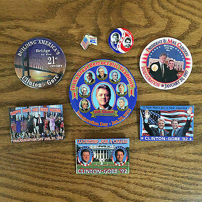 1992 1996 CLINTON GORE - INAUGURATION president political campaign buttons pins