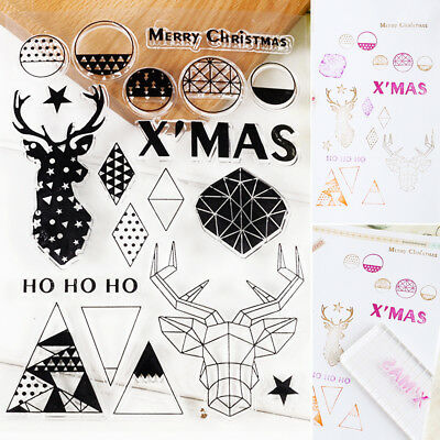 1Set Silicone Rubber Clear Stamp Seal Scrapbooking Album Diary Christmas Card