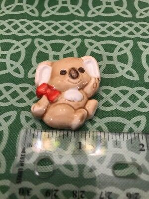 Smiling Ceramic Japanese Koala Bear Kitchen Magnet FREE SHIPPING