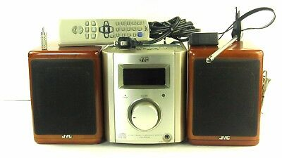 JVC FS-7000 Ultra Compact Component Micro Stereo System With Remote And Antenna