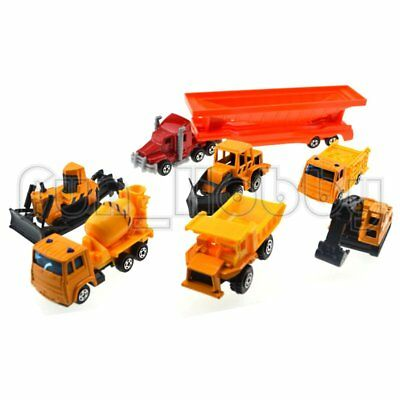 Road Master 7 Pieces Construction Vehicles Collection Die-Cast