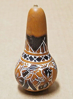 Peruvian Gourd Andean Life with Llama Design