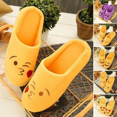 Warm Emoji Slippers Women Men Cartoon Plush Home Winter Indoor Slippers Unisex