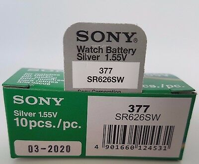 SONY 377 SR626SW BATTERY BATTERIES SILVER OXIDE WATCH 1.55V CELL x 1 2 3 4 5 10