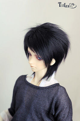 Thicken Black Mohair Wig 6-7'' 7-8'' 8-9''  for BJD Doll 1/6,1/4,1/3 Uncle HH4