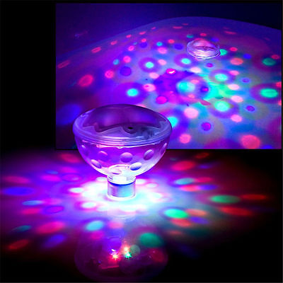 2 x Floating Underwater RGB LED Disco Light Waterproof Glow Show Swimming Pool