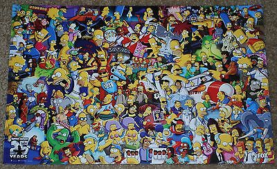 "SDCC 2014 EXCLUSIVE FOX SIMPSONS 25th ANNIVERSARY POSTER 11"" X 17"""
