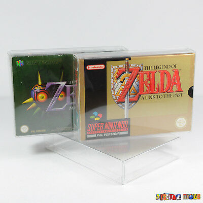 10 x Game Box Protectors For SNES N64 ULTRA STRONG 0.5mm Plastic Super Nintendo