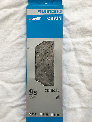 SHIMANO CN-HG53 CHAIN Deore/Tiagra 9 Speed Mountain and Road Bike chain inc pin
