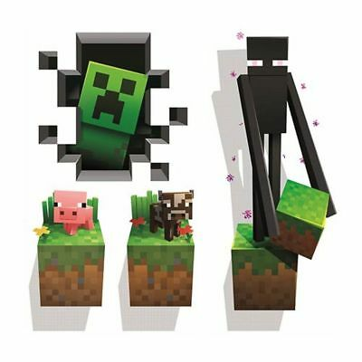 Minecraft 4 Pack Large Wall Vinyl Sticker Pack On Two Large Sheets 70Cm X 50Cm