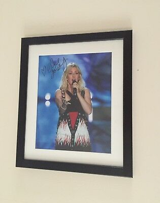 Ellie Goulding Hand Signed Photo Display Framed
