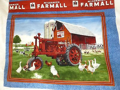 Patchwork Quilting Sewing Fabric FARMALL TRACTOR SEASONS Panel 60x110cm New
