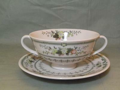 Royal Doulton Provencal Cream Soup Cup & Saucer (Lot A)
