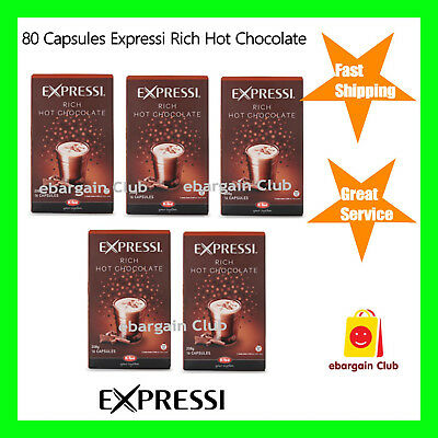 80 Capsules Expressi Coffee Pods Rich Hot Chocolate Valu Pack (5 boxes) ALDI eBC