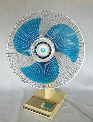 Vintage Toshiba Oscillating Fan 3 Speeds Retro Funky Working Well