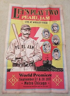 Pearl Jam Let's Play Two Premier The Metro Chicago Poster 9/27 & 9/28 Nisp