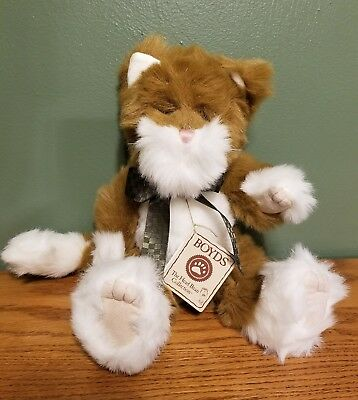 Boyds Bear Boyds Cat Carmella Snicklepuss Rare Retired Plush Cat