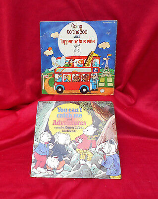 Record 45 ~ Going To The Zoo Tuppenny Bus Ride & You Can't Catch Me Rupert Bear