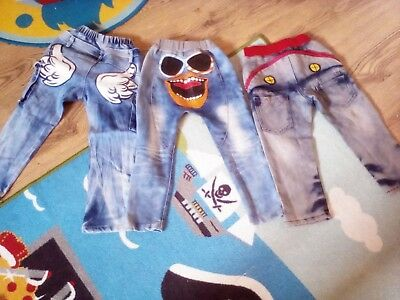 boys bundle  funny cute denim jeans age 3 to 5