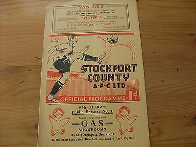 Stockport v Mansfield  programme dated 5-12-1936    (F478)