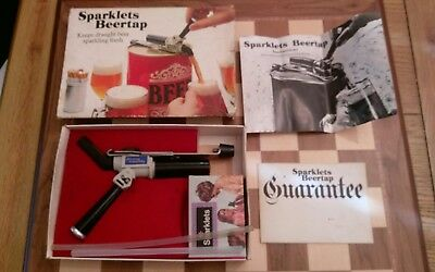 Vintage Boxed Sparklets Beer Tap with original instructions USED