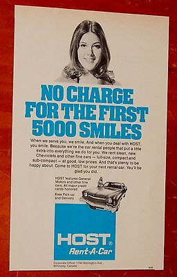 1974 Chevy Monte Carlo For Canadian Host Rent A Car Ad - Retro 70S Vintage