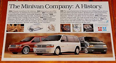 1993 Chrysler Town & Country Plymouth Voyageur Dodge Caravan Large 4 Page Ad