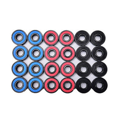 8pcs/set 608RS skate skateboard steel integrated spacer bearings fit 2aW