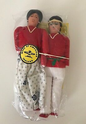 Set of 2 NEW in Package made by American Navajo Indians Man & Woman Doll