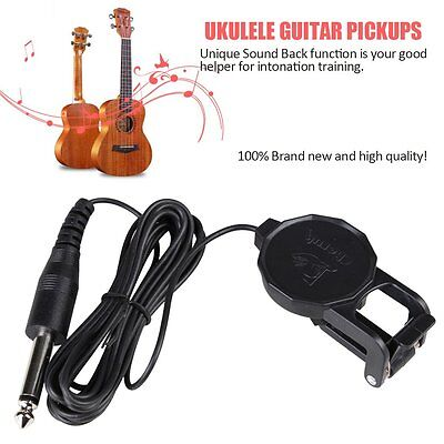 Piezo Clip On Microphone Pickup for Acoustic Guitar Violin Mandolin Ukulele MH