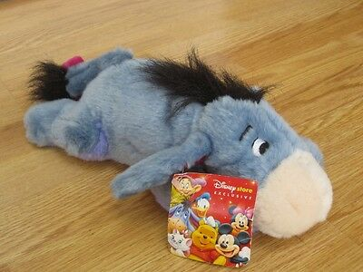"Flat Mate Eeyore 12"" Disney Store Laying Winnie The Pooh Plush Soft Toy New Tags"
