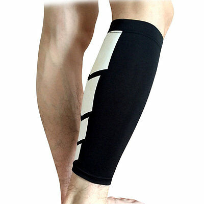 Sports Leg Calf Brace Support Stretch Sleeve Compression Exercise Unisex YT