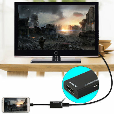 Display Port Micro USB To HDMI Adapter Cable Converter Black 12cm YT